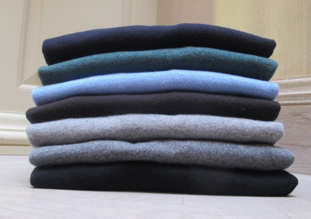 Anderson and Sheppard Cashmere Roll Necks