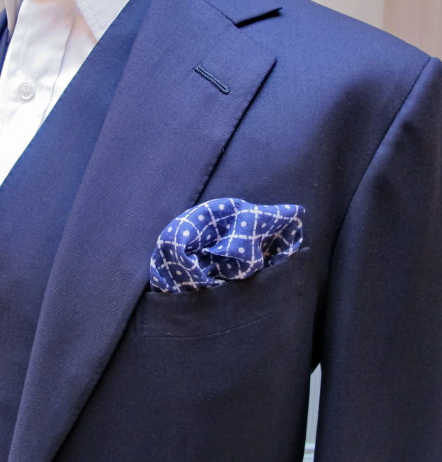 Anderson and Sheppard Cotton Tile Pocket Square (2)