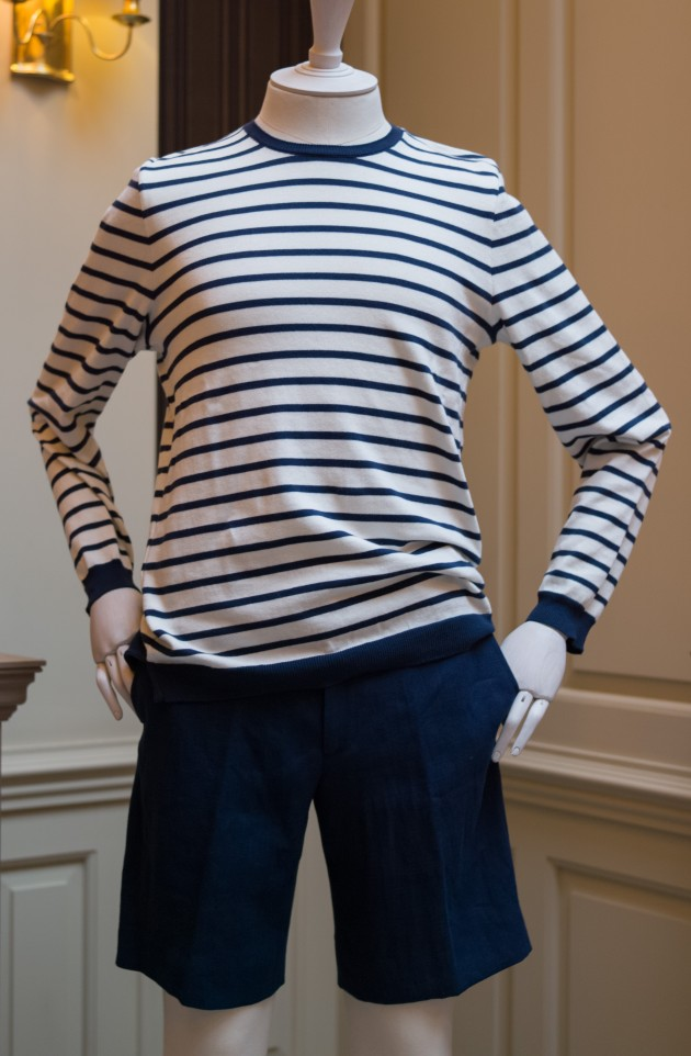 Anderson and Sheppard Shorts, stripes and sweater (3)