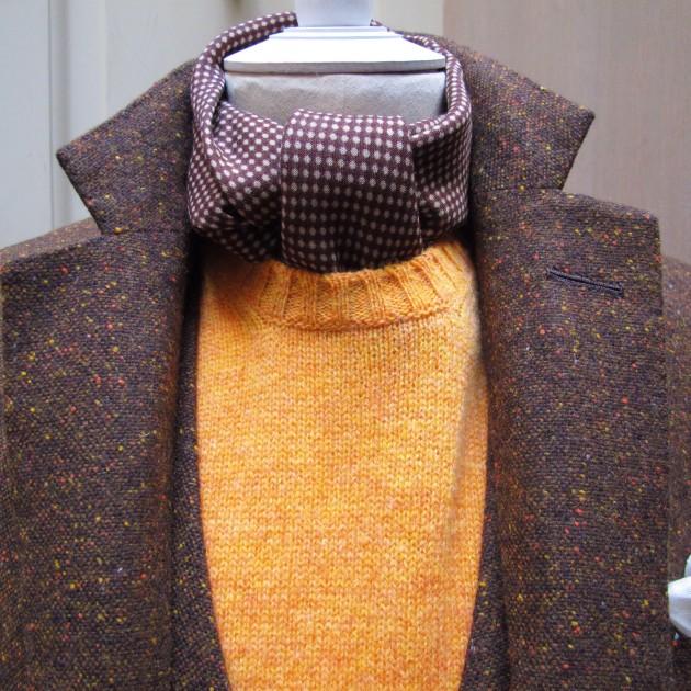 Wool-Silk Medium Spot Neckerchief