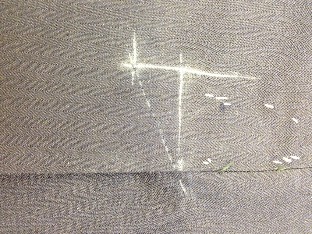 Anderson & Sheppard Bespoke side seams and back lining. Savile Row (3)