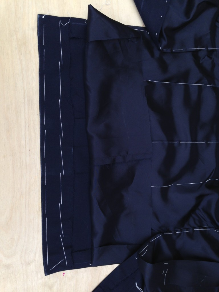 Anderson & Sheppard Bespoke side seams and back lining. Savile Row (5)