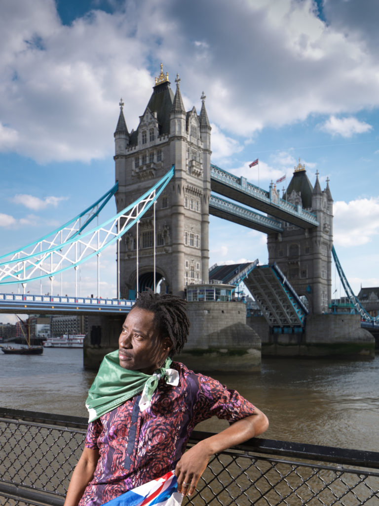 Bisi Alimi, Tower Bridge. Bisi Alimi is a human rights campaigner. In 2004 became the first Nigerian to openly declare his sexuality on national television. After increased threats to his life he moved to the UK, where he was granted asylum in 2008. © Historic England/Chris Redgrave