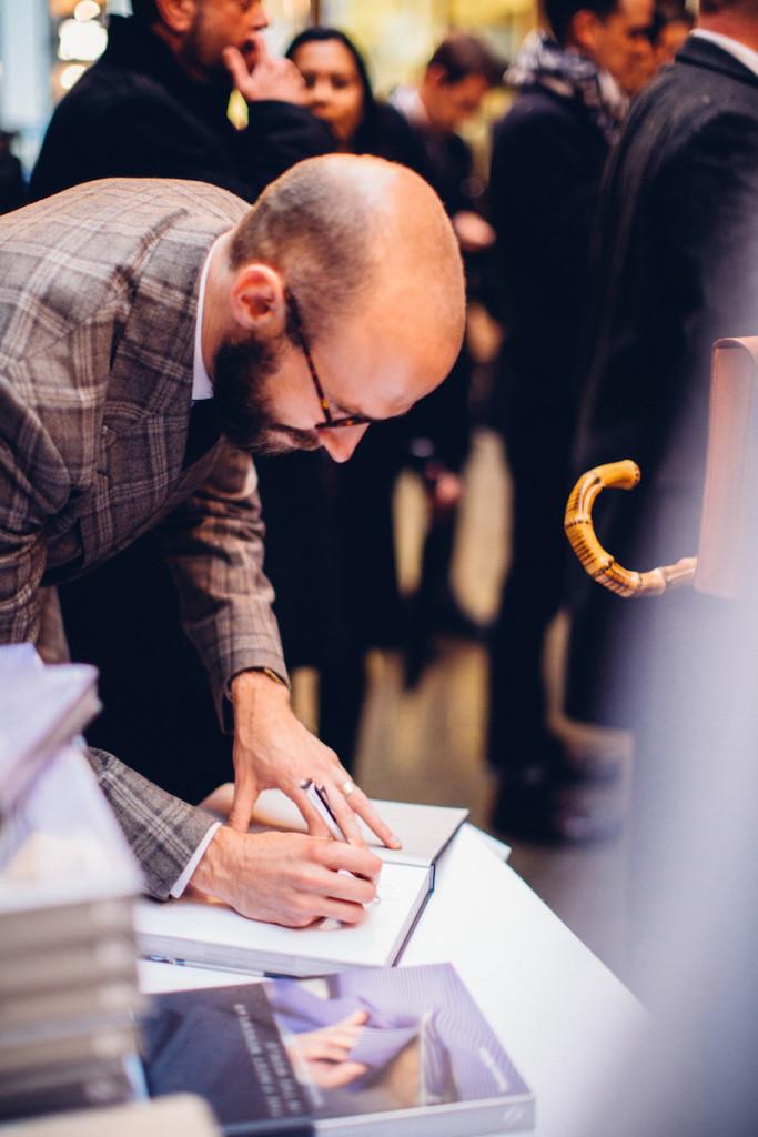 Simon Crompton signing book