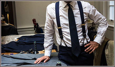 Wearing braces Anderson & Sheppard The Notebok Blog
