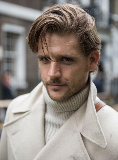 Anderson & Sheppard Savile Row Bespoke Tailors Savile Row Field Day Organisers Peacoat Off-White