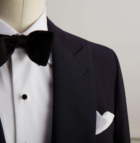 Anderson-&-Sheppard-Dinner-Jacket-Detail Bespoke Savile Row Tailors
